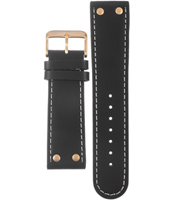 Offshore Limited Tornade-Ballast-Black/-Gold-Leather-Strap AOFF009C -
