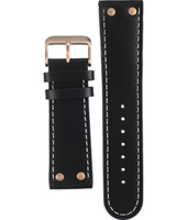 Offshore Limited Tornade-Ballast-Black/-Rose-Gold-Leather-Strap AOFF009B -