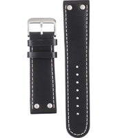Offshore Limited Tornade-Ballast-Black/Steel-Leather-Strap AOFF009A -