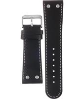 Offshore Limited Z-Drive-Black-and-Steel-Leather-Strap AOFF007K -