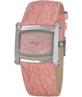 33mm Pink ladies watch with crystals