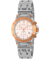 35mm Steel & rose gold ladies chrono with date