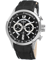 45mm Black & Steel Gents Chrono with Date