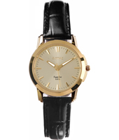 28mm Gold & Black Ladies Watch
