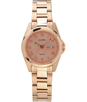 OL26DSS113R  27mm Rose gold ladies watch with sapphire glass