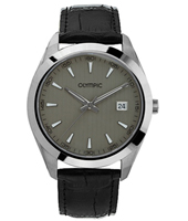 40mm Steel & grey watch with date