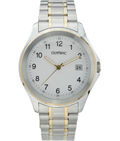 40mm Bicolor silver/gold Watch with Date