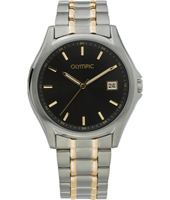 40mm Titanium, Gold & Black Gents Watch with date