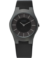 34mm Black design watch with plastic strap