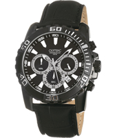 45mm Black Gents Chrono with date
