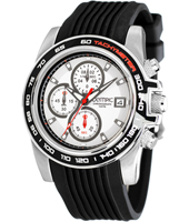 44mm Steel & Black Race Chrono with Date