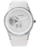44mm White gents watch with date & small second