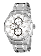 44mm Steel & White Day/Date Gents Watch