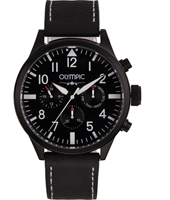 OL89HZL001  46mm Black Pilot Watch with DayDate