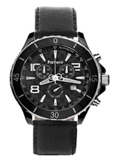 Parrera Chrono-44-Black-Leather PA1524 -