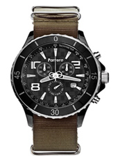 Parrera Chrono-44-Black-Nato-Olive PA1620 -  