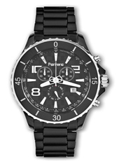 Parrera Chrono-44-Black-Silver PA1422 -  