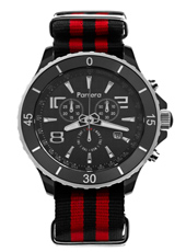 Parrera Chrono-44-Nato-Black-&-Red PA1626 -