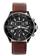 Parrera Chrono-44-Black-Leather PA1525 -