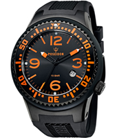 Large Slim  48mm Black-Orange-Black Diver