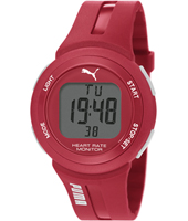 PU911101004 Pulse Red digital sport watch with heart rate monitor