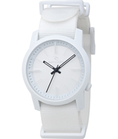 Cambridge  White Plastic 10 ATM Watch with Nylon Strap