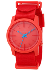Cambridge  Red Plastic 10 ATM Watch with Nylon Strap