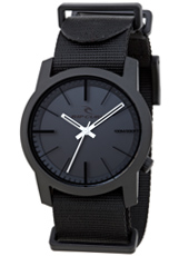 Cambridge  Black Plastic 10 ATM Watch with Nylon Strap