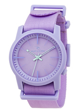 Cambridge  Lavender Plastic 10 ATM Watch with Nylon Strap