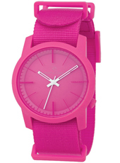 Cambridge  Pink Plastic 10 ATM Watch with Nylon Strap