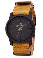 Cambridge  Black Coated Steel watch with Tan Leather Strap
