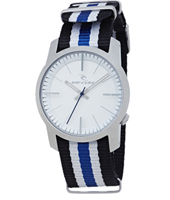 Cambridge Nato  Steel Watch with Striped NATO strap