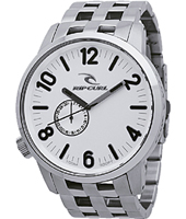 Detroit 2  50mm Steel & White Gents Watch with Date Dial