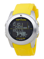 Pipeline Yellow Digital World Tide Multifunction Watch