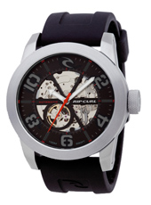 R1 Automatic 48mm Black & Steel Automatic Skeleton Watch
