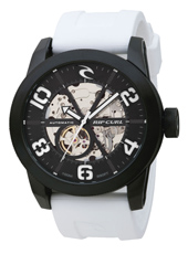 R1 Automatic  48mm Black & White Automatic Skeleton Watch