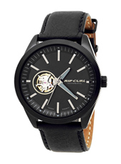 The Civilian 42mm Black watch with skeleton window