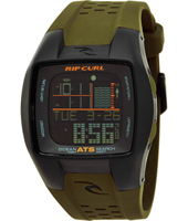 Trestless Oceansearch  Olive & Black Digital Tide Chart Watch
