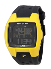 Trestless Oceansearch  Yellow & Black Digital Tide Chart Watch