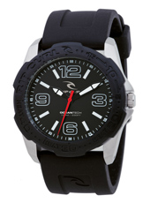 Tubes  Black & Steel Surf Watch, Unidirectional Bezel