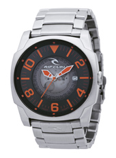 Undercover  44mm Steel, Black & Orange Mens Watch with Date