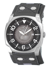 Undercover Steel & Grey Mens Watch with Date