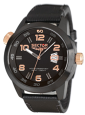 Sector Oversize-Black-&-Rose-Gold R3251202025 -