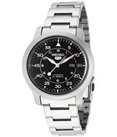 Seiko 5  37mm Matte Steel Automatic Watch with DayDate