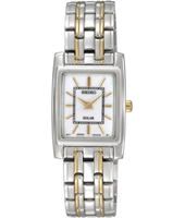 20mm Square Bicolor Solar Powered Ladies Watch