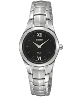 26mm Steel & Black Solar Powered ladies watch