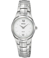 26mm Steel & White Solar Powered ladies watch