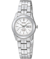 25mm Steel & White Day/Date Ladies Watch with Sapphire Crystal