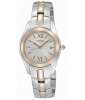 26mm Bicolor & Mother of Pearl ladies watch with date