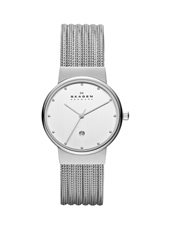 Ancher Small 26mm Silver Ladies Watch with Milanese Bracelet